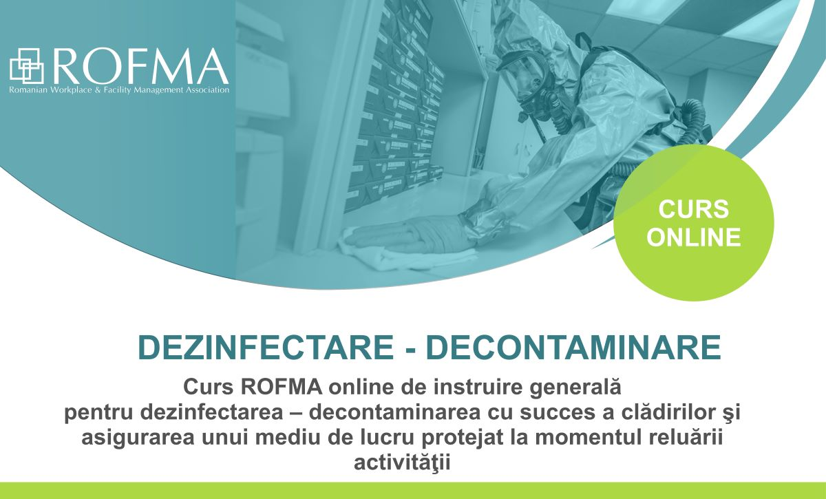 Curs online de instruire generala pentru dezinfectarea-decontaminarea cladirilor  11 – 12 mai 2020