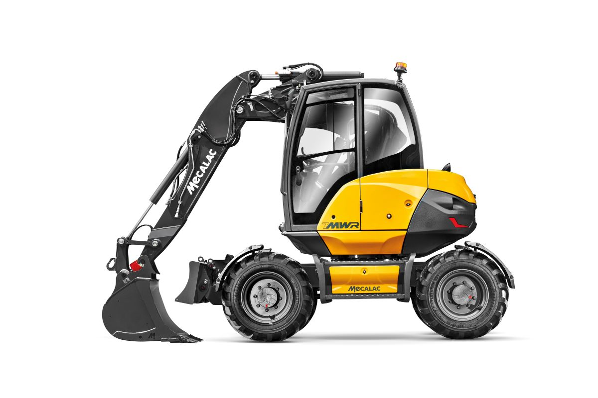 Mecalac launches two-piece boom with offset for 6MCR and 7MWR excavators
