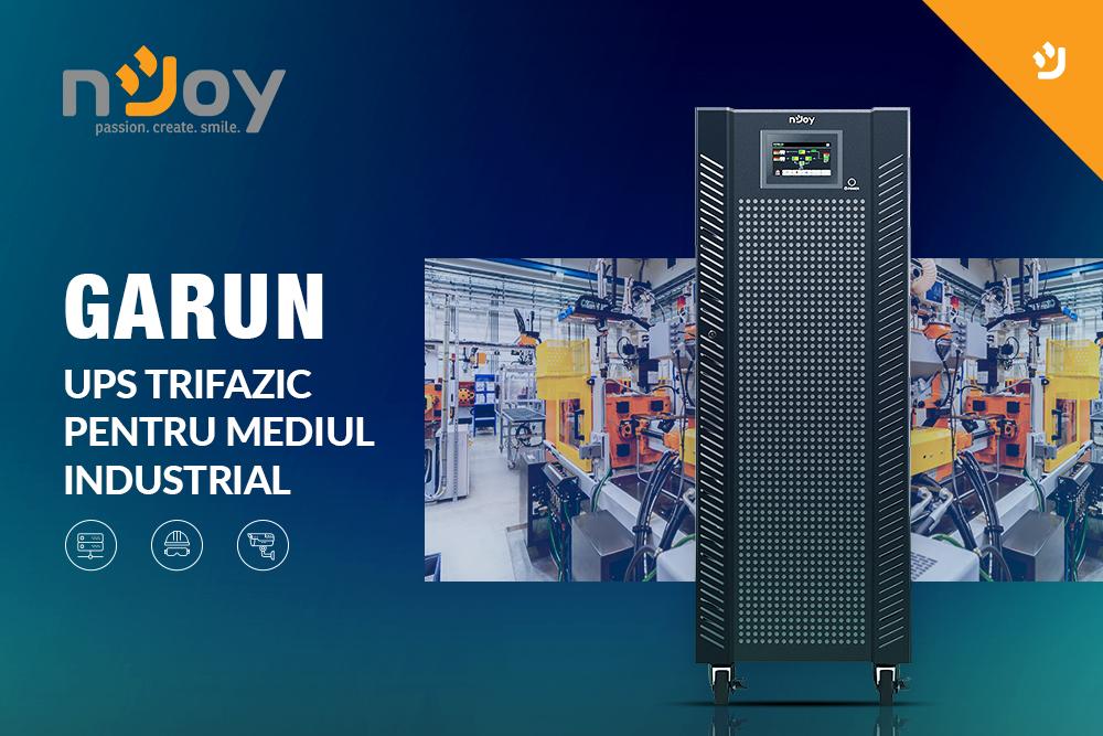 nJoy ofera o serie de solutii UPS pentru sustinerea  continuitatii afacerilor din mediul industrial