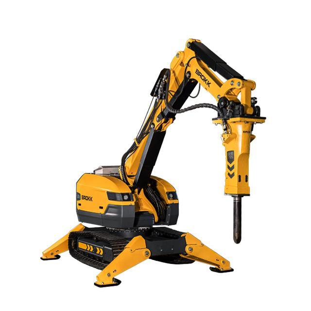Brokk Releases Eco-Friendly Diesel Demolition Robot with  40 Percent More Hitting Power