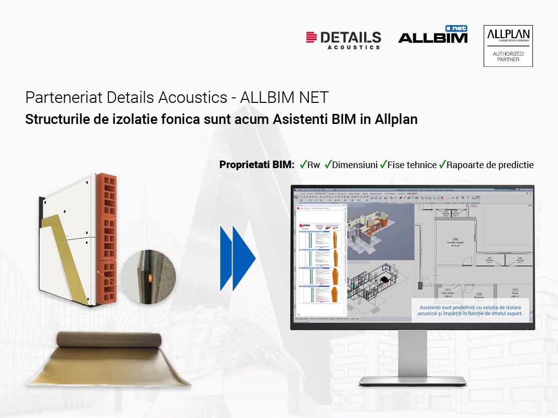 Details Acoustics intra in parteneriat cu ALLBIM NET pentru a dezvolta modele de structuri profesionale pentru izolatie fonica
