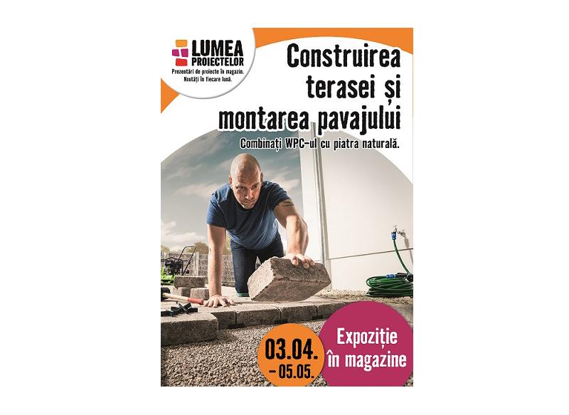 Construirea terasei si montajul pavajului – tema lunii aprilie la HORNBACH