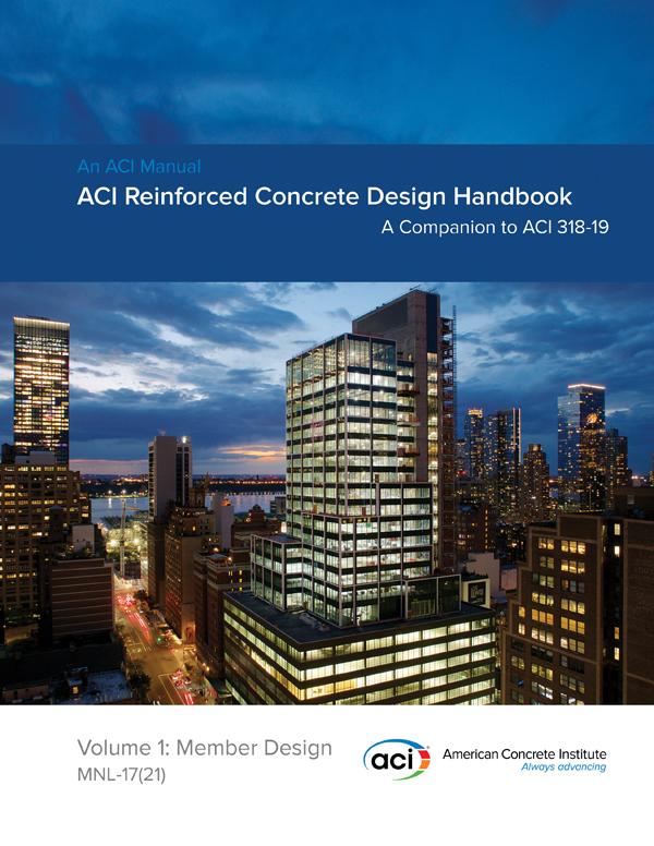 NEW ACI REINFORCED CONCRETE DESIGN HANDBOOK AVAILABLE