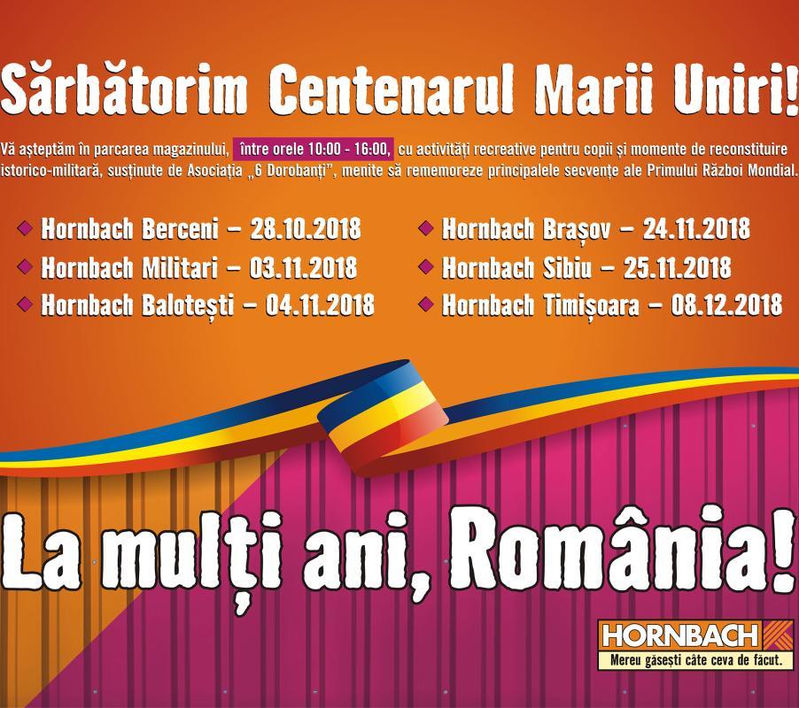 HORNBACH retrăiește istoria Marii Uniri alături de clienții săi