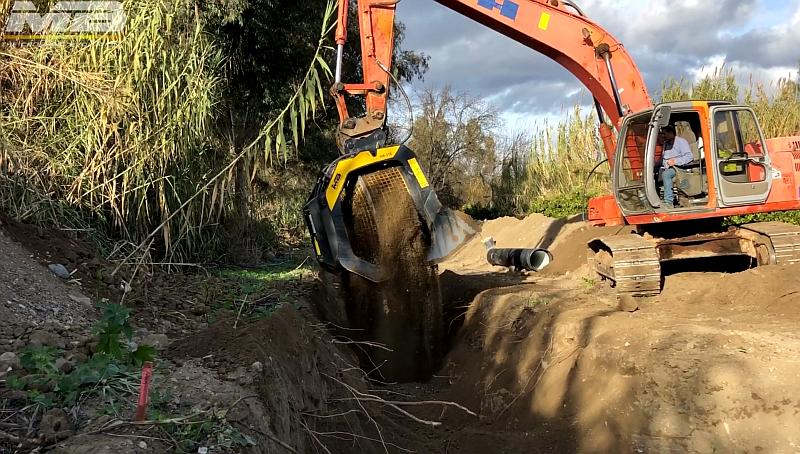 KEEPING UP WITH TRENCH WORKS – CONNECTING PEOPLE  MB Crushers and Screening Buckets are used in trench works to ensure you save time and money.
