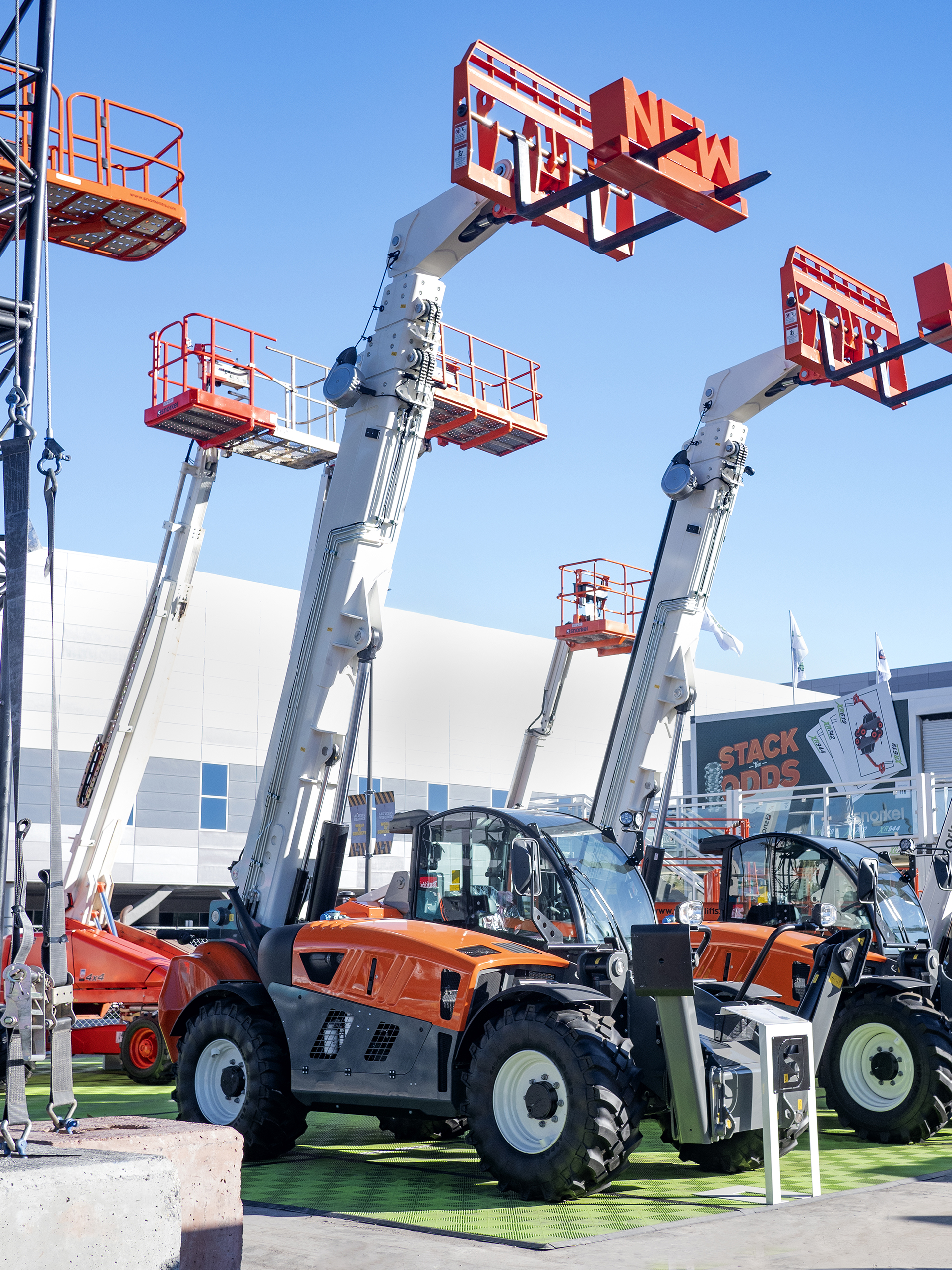 TWO NEW SNORKEL TELEHANDLERS INTRODUCED AT WORLD OF CONCRETE 2019