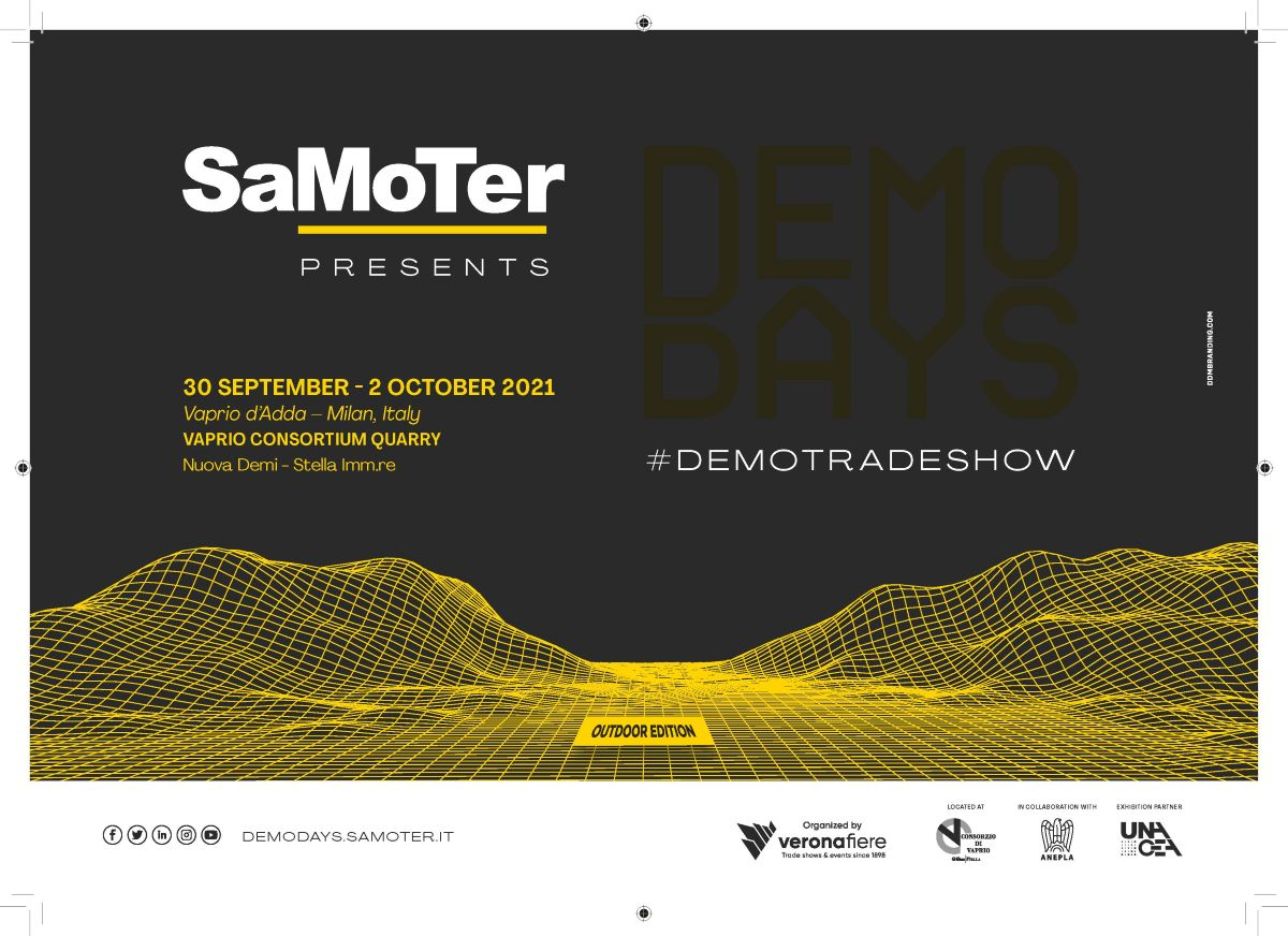 """SAMOTER DEMO DAYS 2021 CONSTRUCTION MACHINERY """"LIVE"""" IN A QUARRY"""