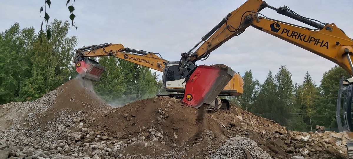 ALLU Screener and crusher has just paved the way for the future of demolition. These two solutions together now lead the market with innovation