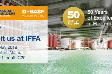 Ucrete industrial flooring at IFFA 2019