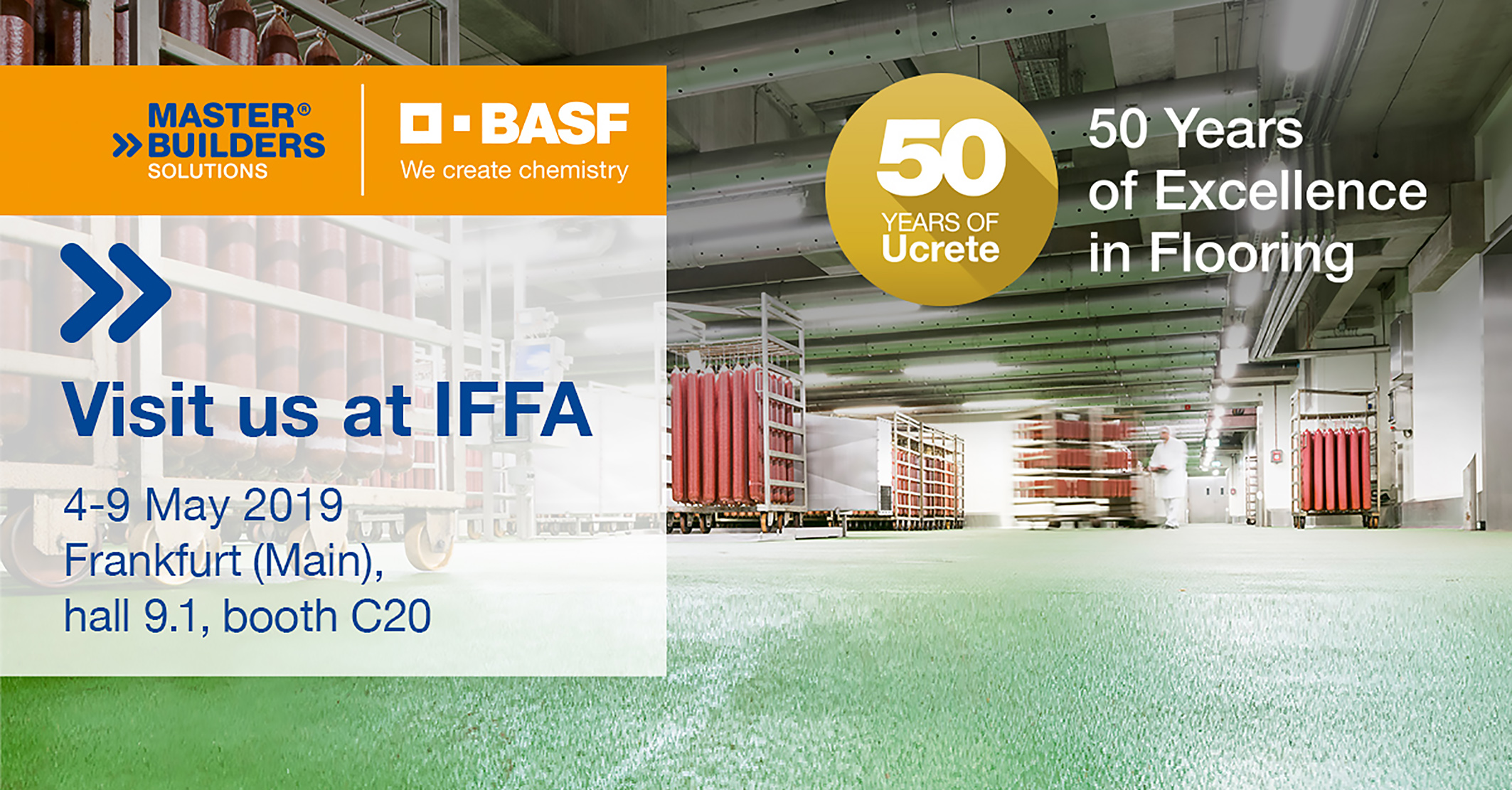 Master Builders Solutions® presents Ucrete flooring systems at  IFFA 2019