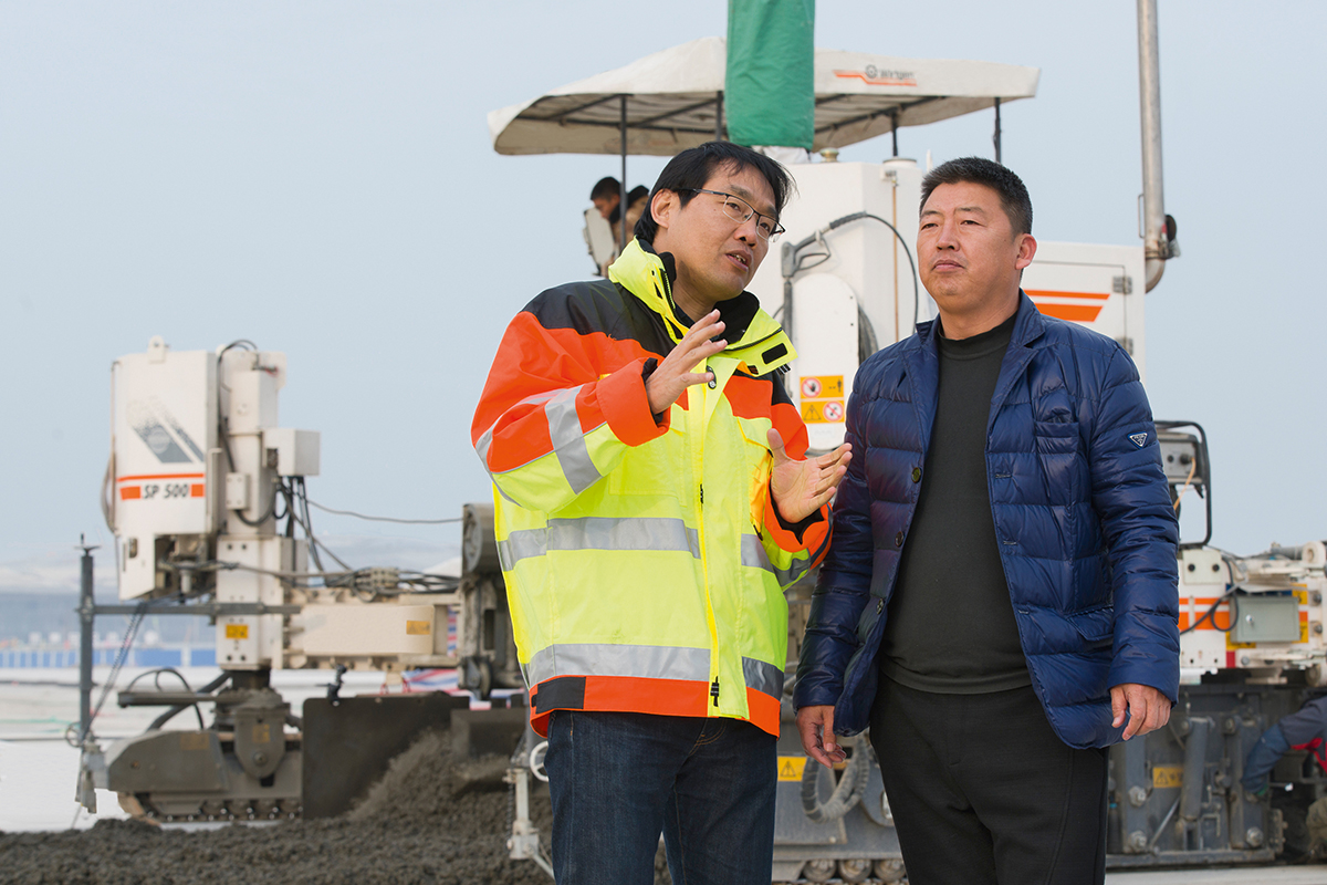 Wirtgen Slipform Pavers Lay Precise Pavements for Beijing New International Airport