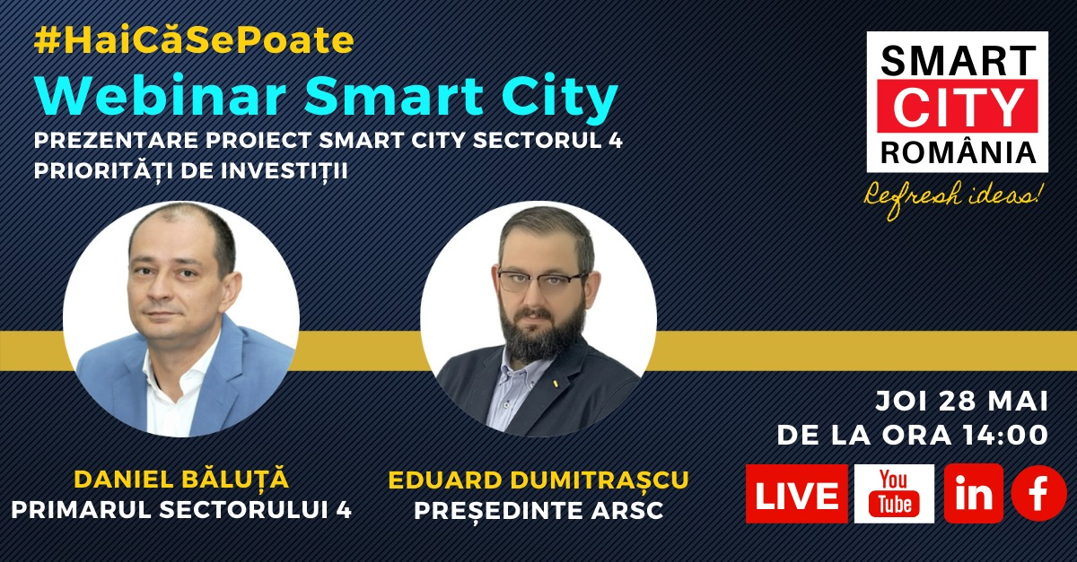 Webinar Smart City: Cat de Smart este Sectorul 4?