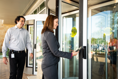 accessing revolving door