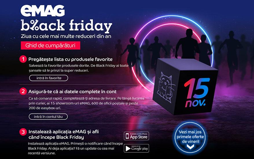 Numaratoarea inversa de Black Friday a inceput: eMAG dezvaluie 10 produse aflate oferta