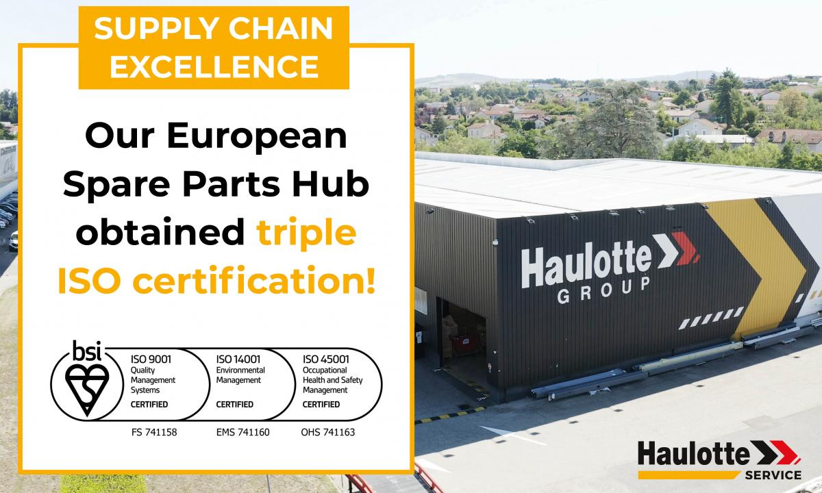 Haulotte achieves new ISO certifications