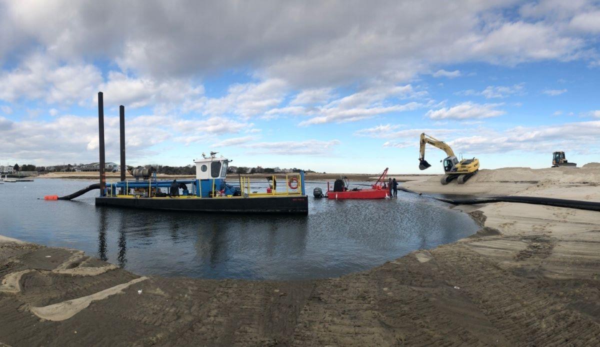 DSC Dredge Shark Class dredge opens the Outermost Harbor Marine Channel